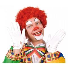 Pruik Clown Krul rood