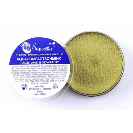 Aqua Face- And Body Paint 45 Gram Goud Met Glitter