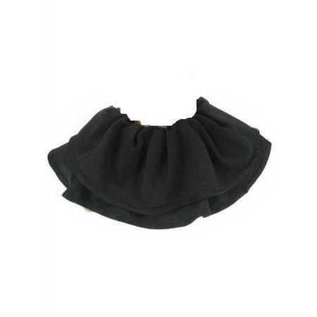 Trevira kraag zwart ( Piet )