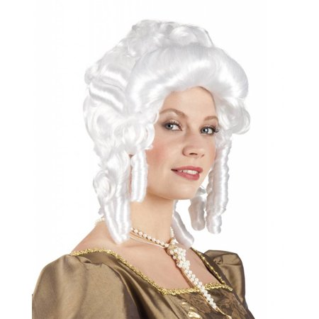 Dames barok pruik wit