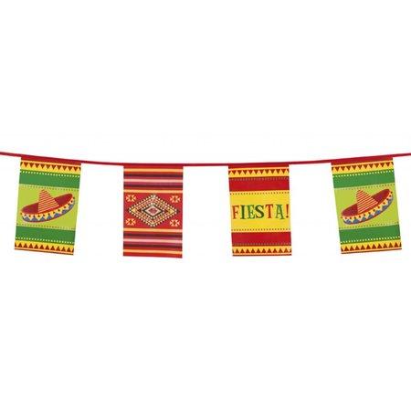 Vlaggenlijn Mexicaanse Fiesta Vierkant (10m.)