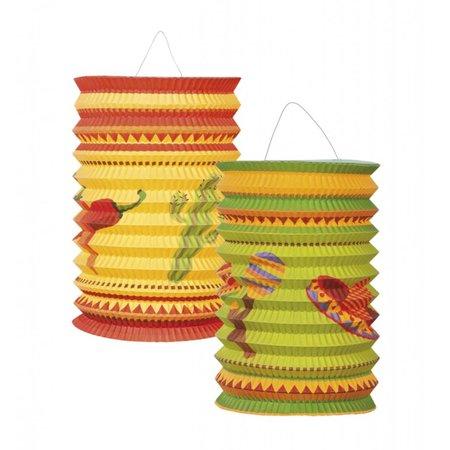 Lampionnen Mexicaanse Fiesta 2 stuks (16cm.)