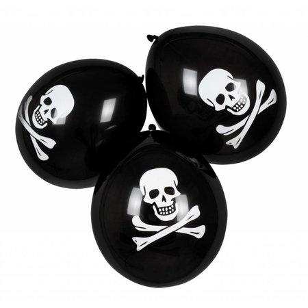 Ballonnen Piraat á 6 stuks (25cm.)