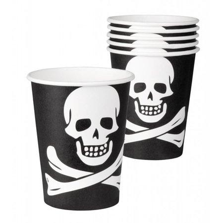 Beker Piraat á 6 stuks (25cl.)