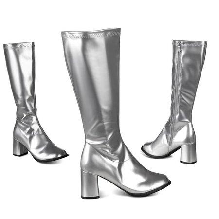 Retro laarzen zilver