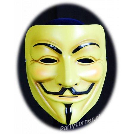 Masker V for Vendetta - Geel
