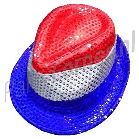 Glitterhoedje rood wit blauw | Ik hou van Holland hoedje
