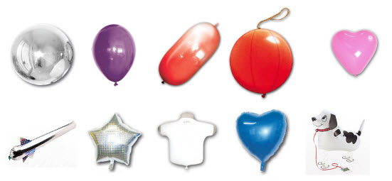 Vormen voor ballonbedrukking.