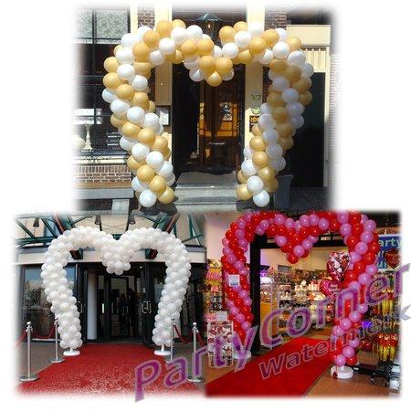 Ballonnenboog hartvorm