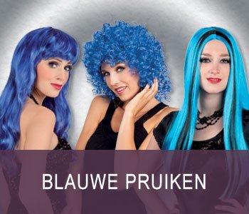 Blauwe pruiken