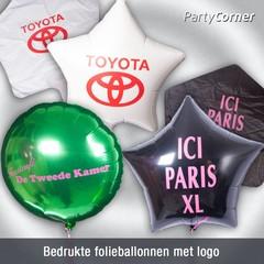Bedrukte folie ballonnen met logo (zonder helium)