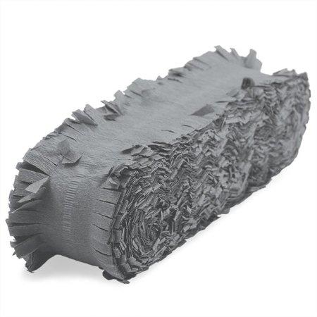 Crêpe papieren slinger zilver