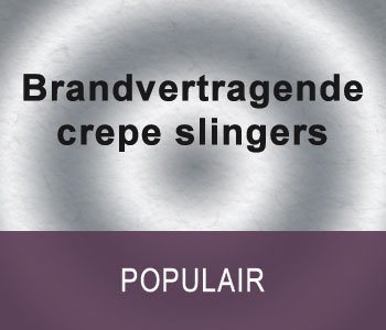 Brandvertragende crepe slingers