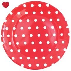 Kartonnen bordjes rood