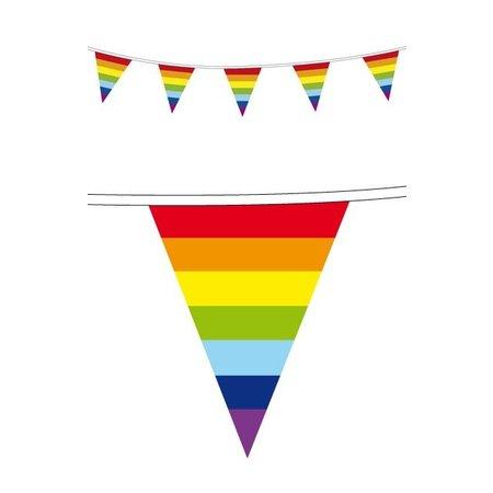 Rainbow vlaggenlijn regenboog
