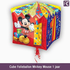 Cube Folieballon Mickey Mouse 1 jaar