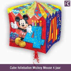 Cube folieballon Mickey Mouse 4 jaar