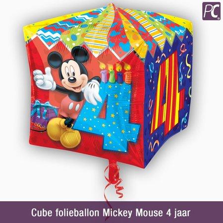Cube folieballon Mickey Mouse 4 jaar
