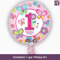 Folieballon 1 jaar Bithday Girl