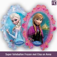 Super folieballon Frozen met Elsa en Anna