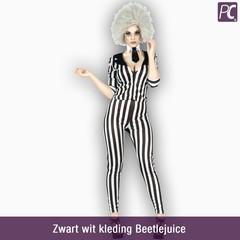 Zwart wit kleding Beetlejuice