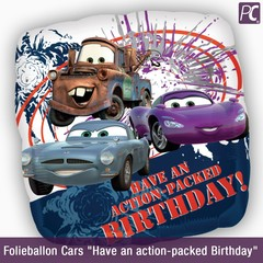"Folieballon Cars ""Have an action-packed Birthday"""
