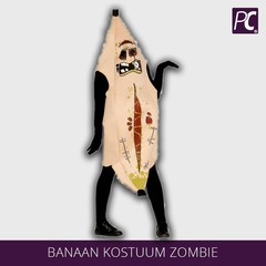Banaan kostuum zombie