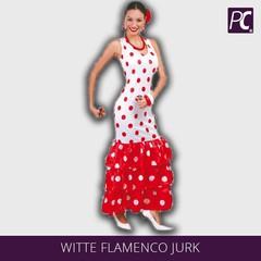 Witte flamenco jurk