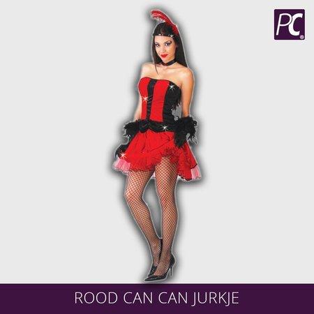 Rood Can can jurkje