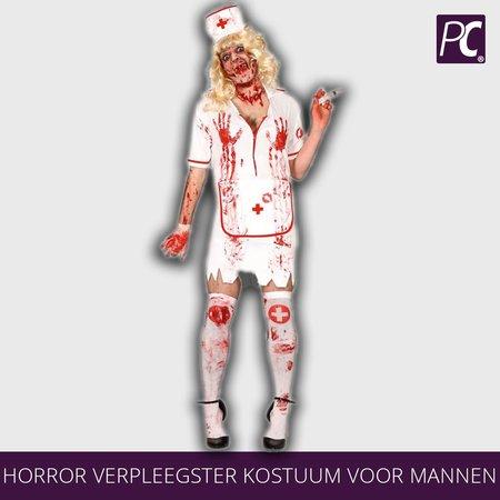 Horror verpleegster kostuum voor mannen