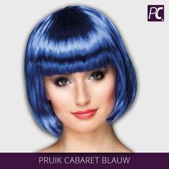Pruik Cabaret blauw