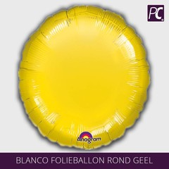 Blanco folie ballon rond geel