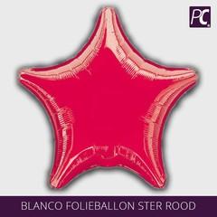 Blanco folieballon ster rood