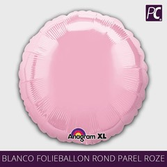 Blanco folieballon rond parel roze