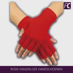 Rode Vingerloze handschoenen