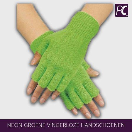 Neon groene vingerloze handschoenen