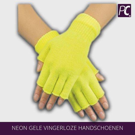 Neon gele vingerloze handschoenen