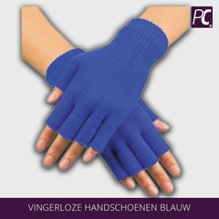 Vingerloze handschoenen blauw