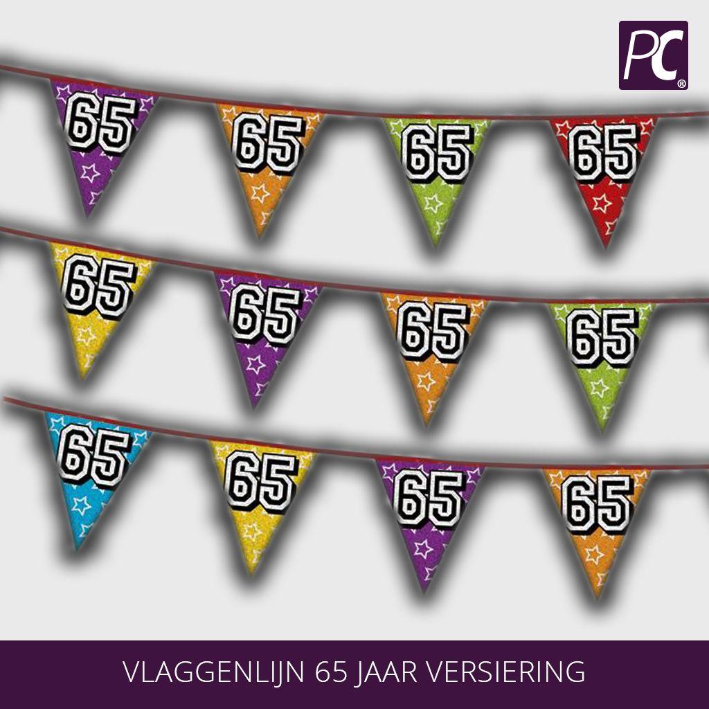 versiering 65 jaar Vlaggenlijn 65 jaar versiering | partycorner.nl versiering 65 jaar
