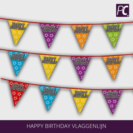 Happy Birthday vlaggenlijn