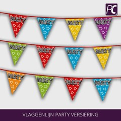 Vlaggenlijn Party versiering