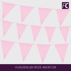 Vlaggenlijn roze 46x30 cm