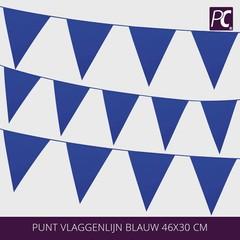 Punt vlaggenlijn blauw 46x30 cm