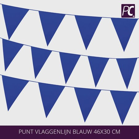 Punt vlaggenlijn blauw  18 pcs 46x30 cm