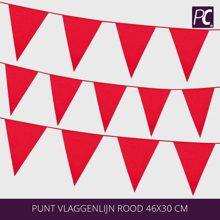 Punt vlaggenlijn rood  18 pcs 46x30 cm