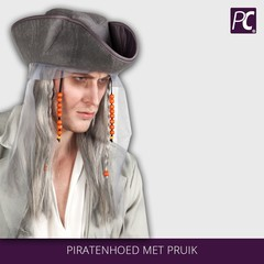Piratenhoed met pruik
