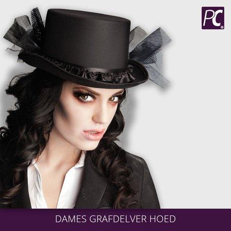 Zwarte  Dames grafdelvers hoed