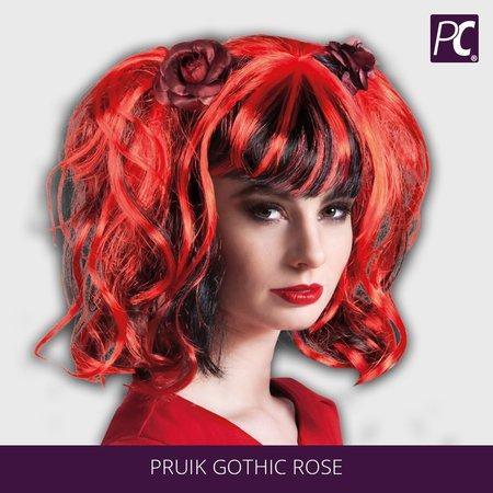 Duivel Pruik Gothic Rose