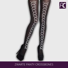 Zwarte panty crossbones