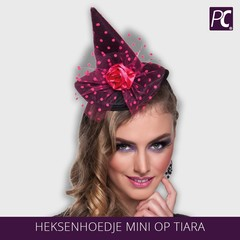 Heksenhoedje mini op tiara